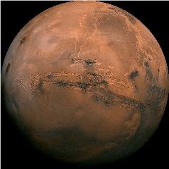 Caption: Mars awaits.