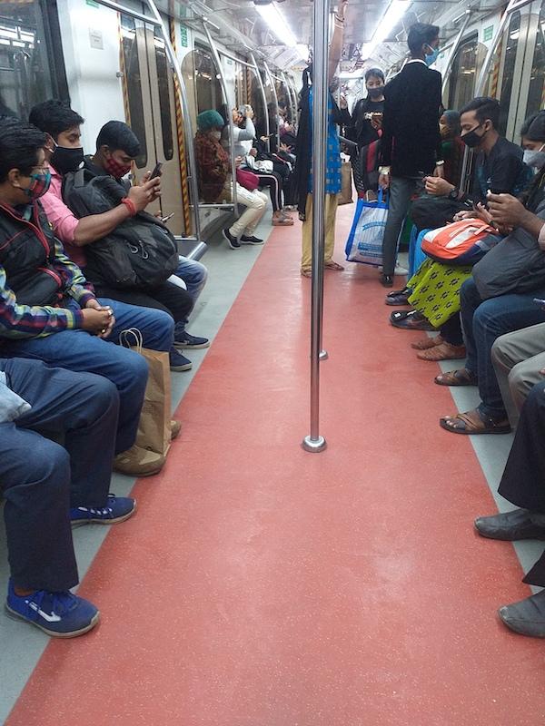 Caption: A crowded Kolkata subway, Credit: Sandip Roy