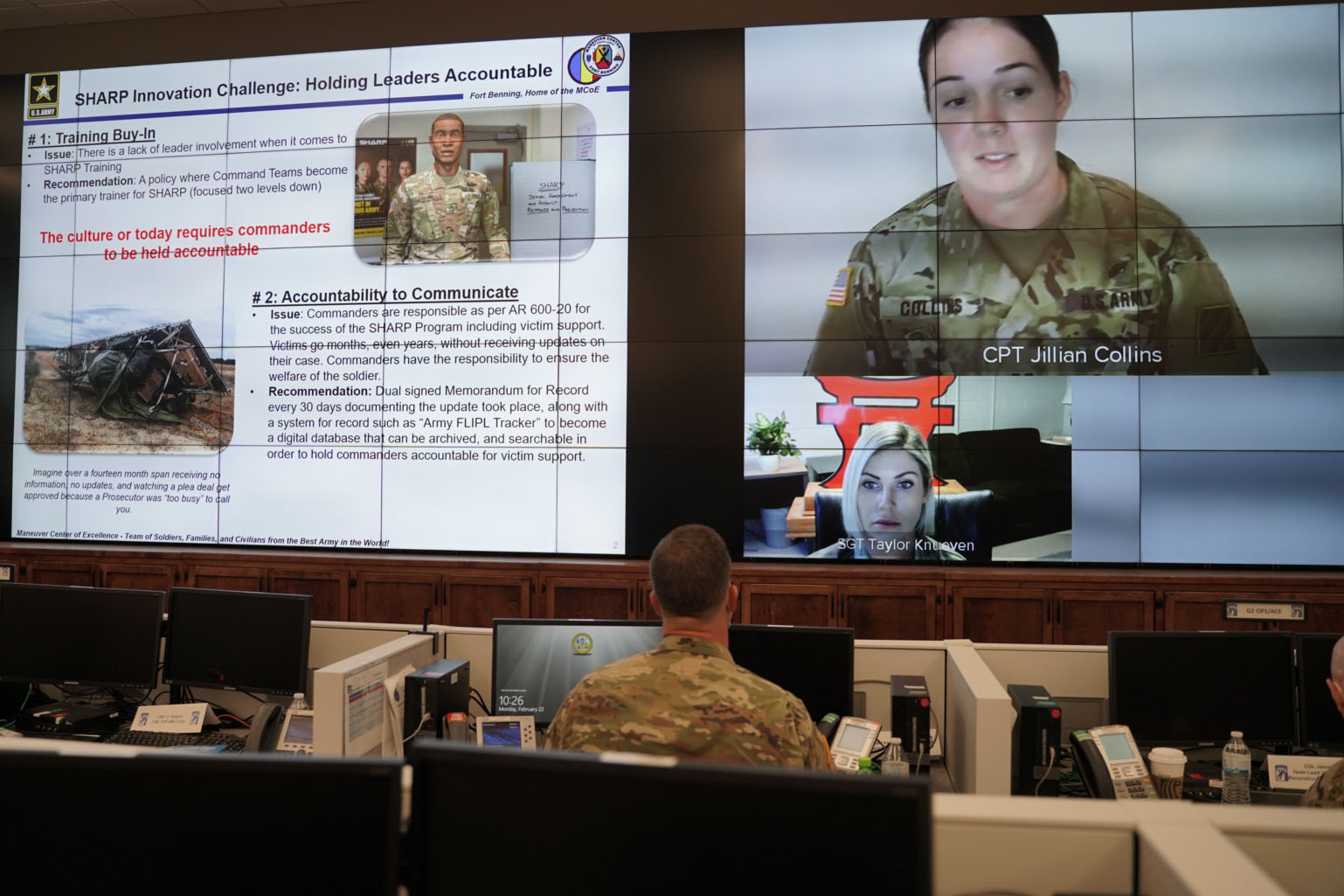 """Caption: In a """"Shark Tank"""" style event, 34 soldiers in the 18th Airborne Corps submitted proposals to improve the Army program that responds to sexual harassment and assault. The Corps has committed to implementing the concepts of seven finalists., Credit: Marygian D. Barnes / U.S. Army"""