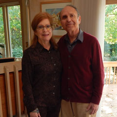 Caption: Samuel Adler and his wife Emily Freeman Brown, Credit: WGTE