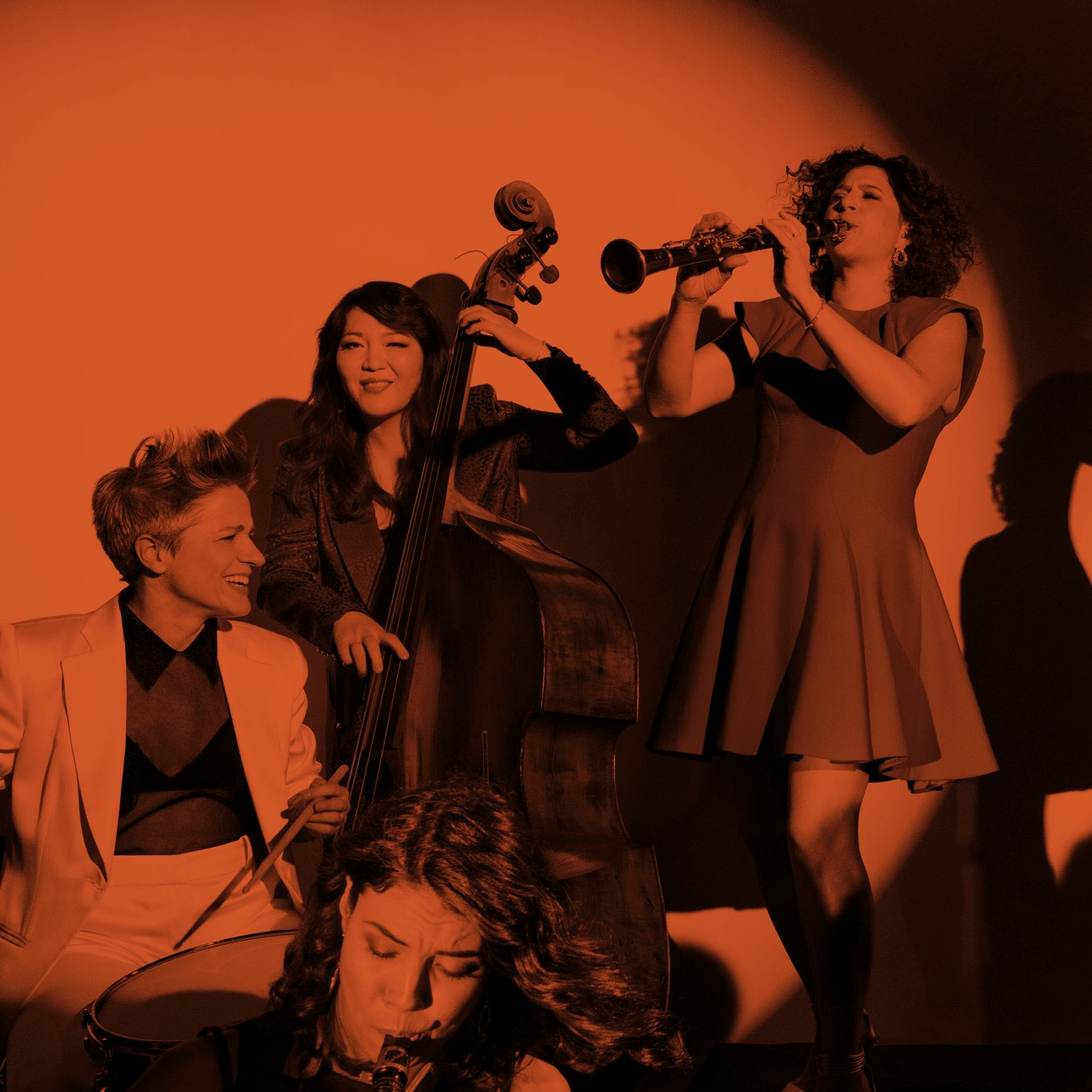 Caption: Members of Artemis – Allison Miller, Melissa Aldana, Noriko Ueda, Anat Cohen