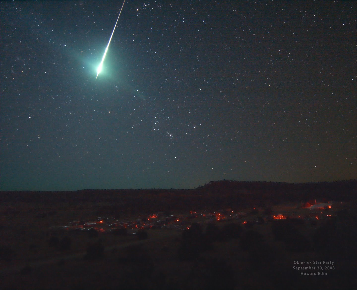 Caption: Bright Fireball Meteor, Credit: NASA