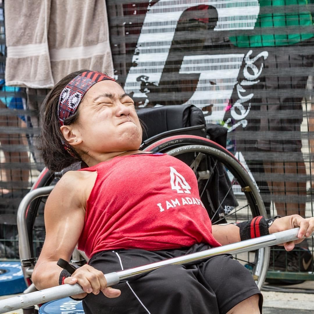 Caption: Mia Ives-Rublee at an adapted CrossFit competition in Wasaga Beach, ON, Canada. She pushed her physical limits as an athlete...and now tests her emotional endurance as an activist., Credit: Mia Ives-Rublee