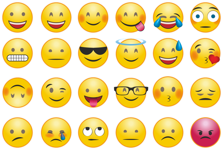 Caption: Emojis have evolved to be used as tone indicators, emotions, even punctuation., Credit: Pixaline / Pixabay
