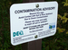Caption: Imerman Park sits on the flood plain of the Tittabawassee River.  Signs along the trail warn visitors about dioxin contamination in some of the park's soil., Credit: Shawn Allee