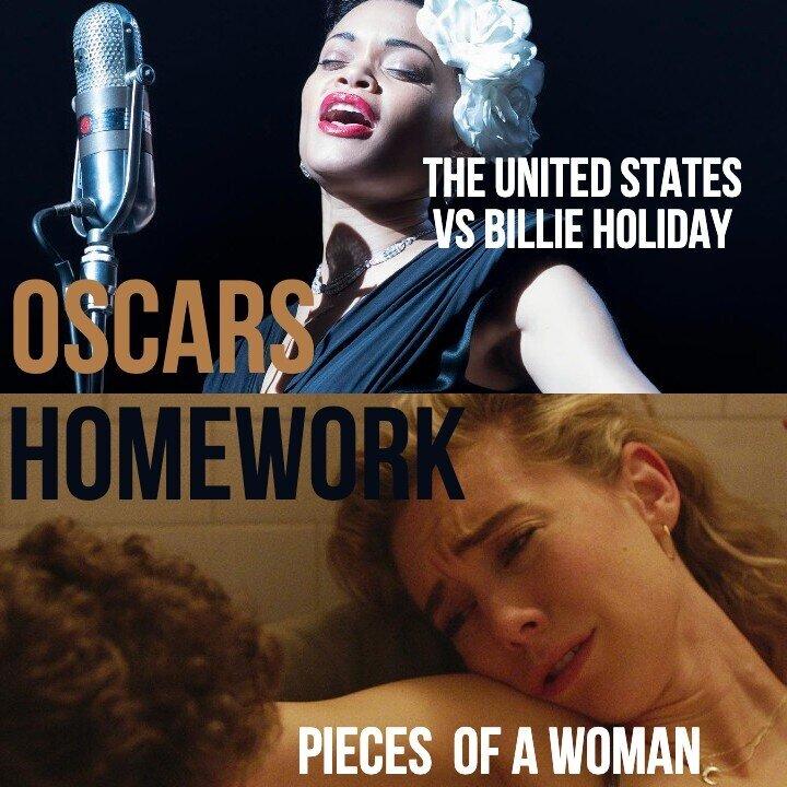 Caption: Oscars Homework - 'The U.S. vs Billie Holiday' / 'Pieces of a Woman'