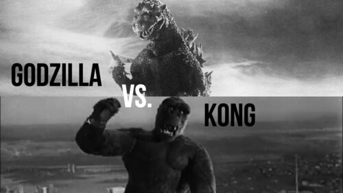 Caption: The Originals: 'Godzilla' ('54) vs. 'Kong' ('33)