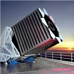 Caption: The Sloan Foundation 2.5 meter telescope at Apache Point Observatory, Credit: The Sloan Foundation