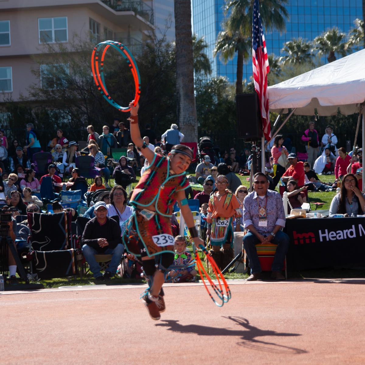 Caption: 2020 National Hoop Dance Championships, Phoenix, AZ, Credit: ©LISA JOHNSON