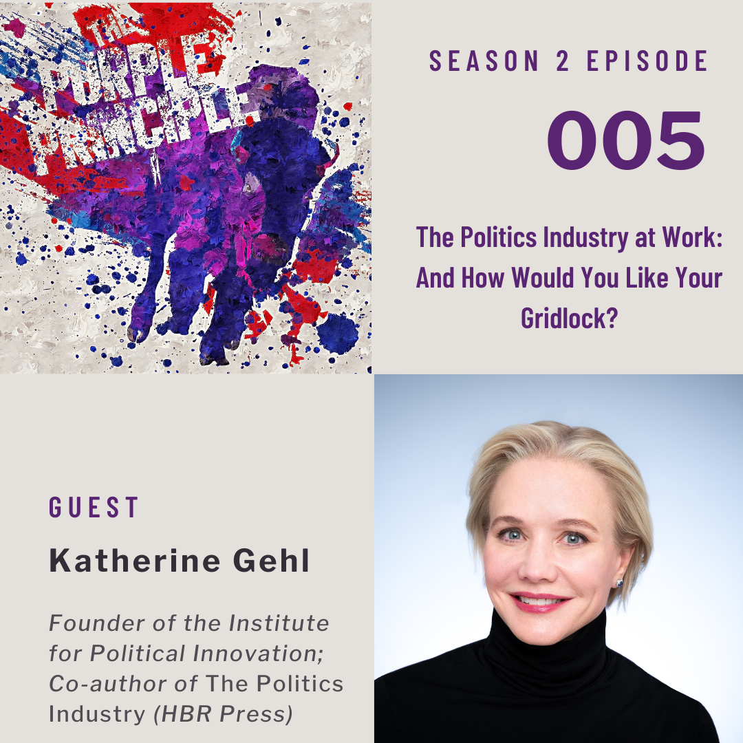 """Caption: Season 2 Episode 5, """"The Politics Industry at work: And How would you like your gridlock?"""""""
