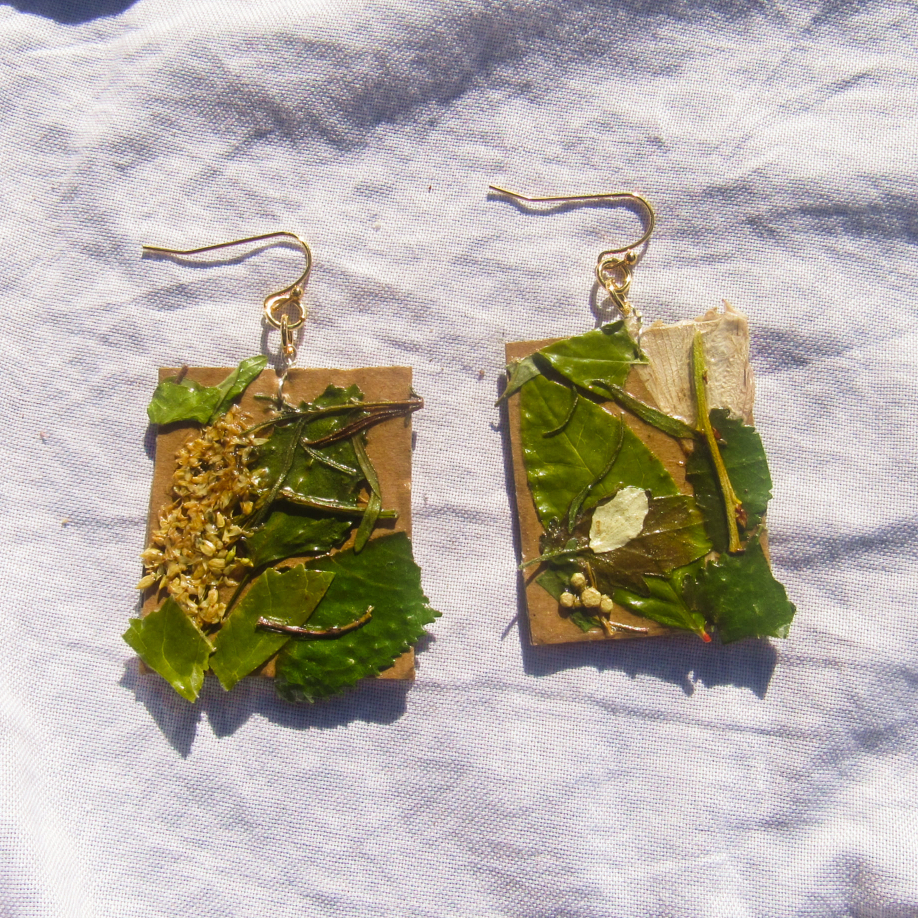 Caption: Upcycled Earrings, Credit: Josie Colton