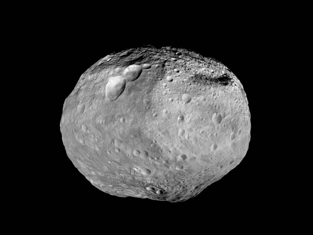 Caption: The Asteroid Vesta, Credit: NASA