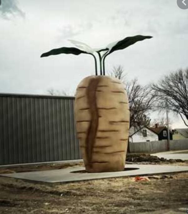 Caption: World's Largest Sugar Beet in Halstad, MN