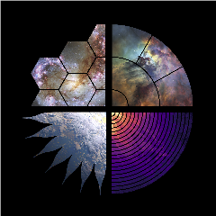 Caption: The New Great Observatories coalition has brought together the logos for the four projects proposed in the 2020 Astronomy and Astrophysics Decadal Survey., Credit: The New Great Observatories Coalition