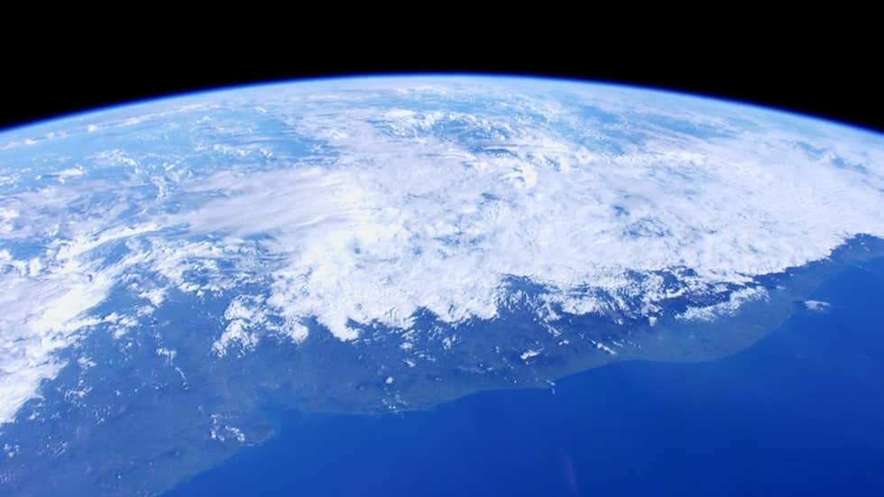 Caption: A view of Earth's atmosphere., Credit: NASA