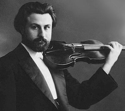 Caption: Catalan violinist and composer Joan Manén