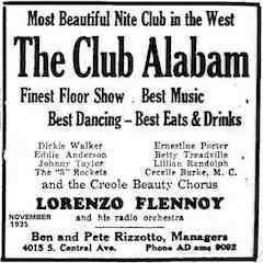 Caption: Club Alabam, Los Angeles