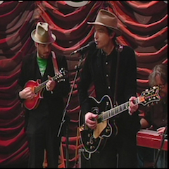 Caption: Jakob Dylan of the WoodSongs Stage.