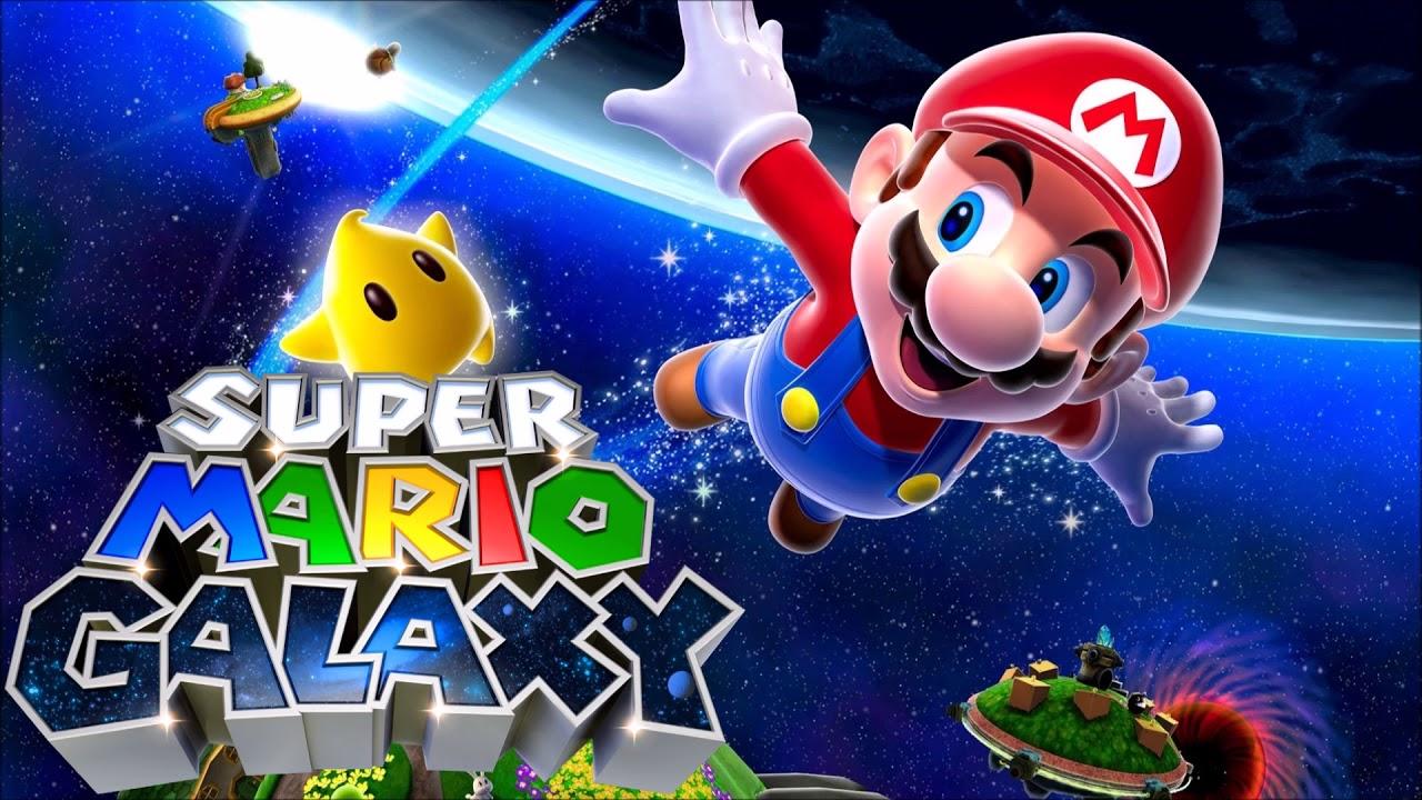 Caption:  Cover art for the 2007 game Super Mario Galaxy, whose score was composed by Mahito Yokota and Koji Kondo.