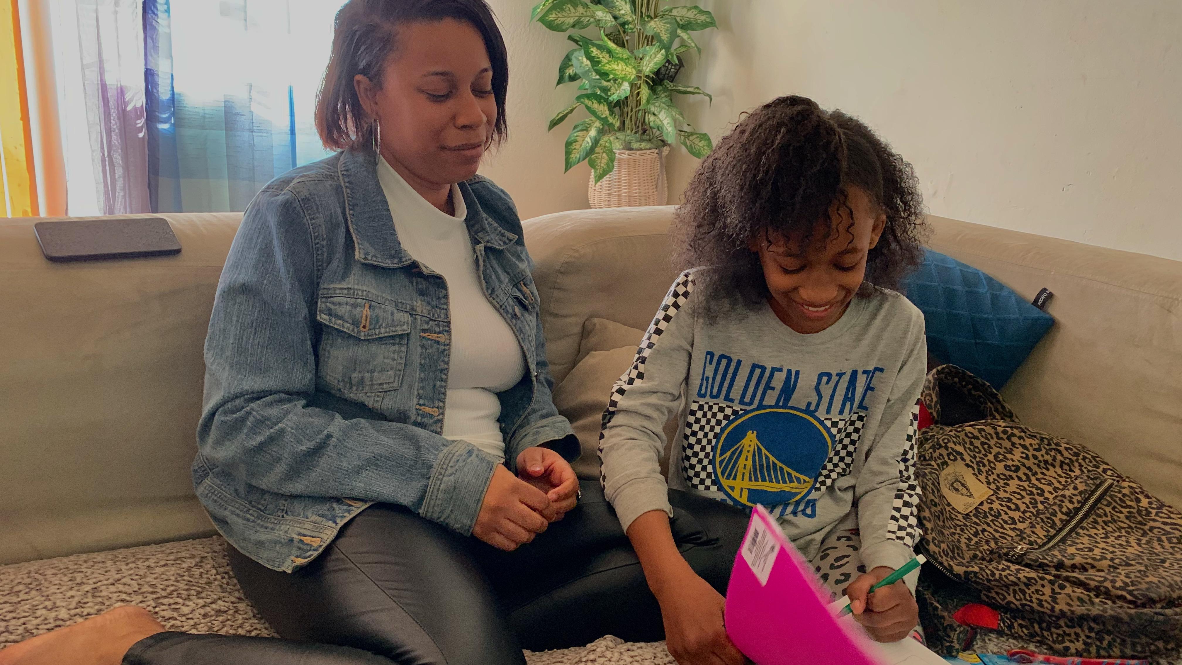 Caption: Ta'Kira Dannette Byrd, 11-year-old Vallejo girl and Shawntierra Dolton, Ta'Kira's mother in 2020. , Credit: Lee Romney