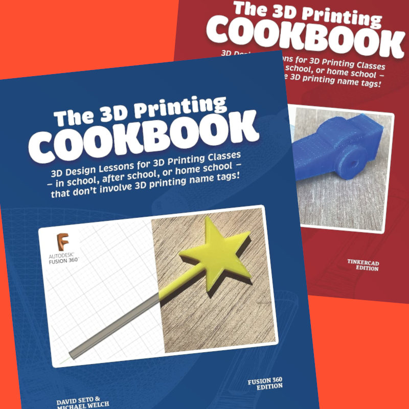 Caption: Two books on 3D Printing by David Seto and Michael Welch.