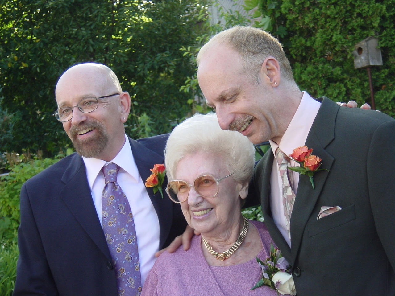 Caption: Alan Gotlib (right) was walked down the aisle by his mother Regina. , Credit: Submitted by Alan Gotlib