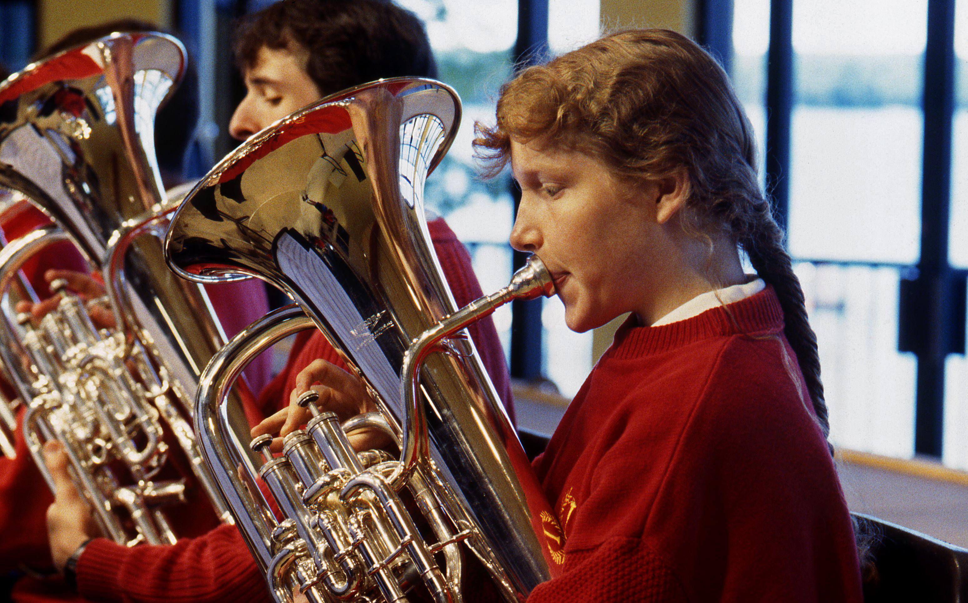Caption:  1997 Interlochen Arts Academy Concert Band Tubas, Credit: Interlochen Center for the Arts