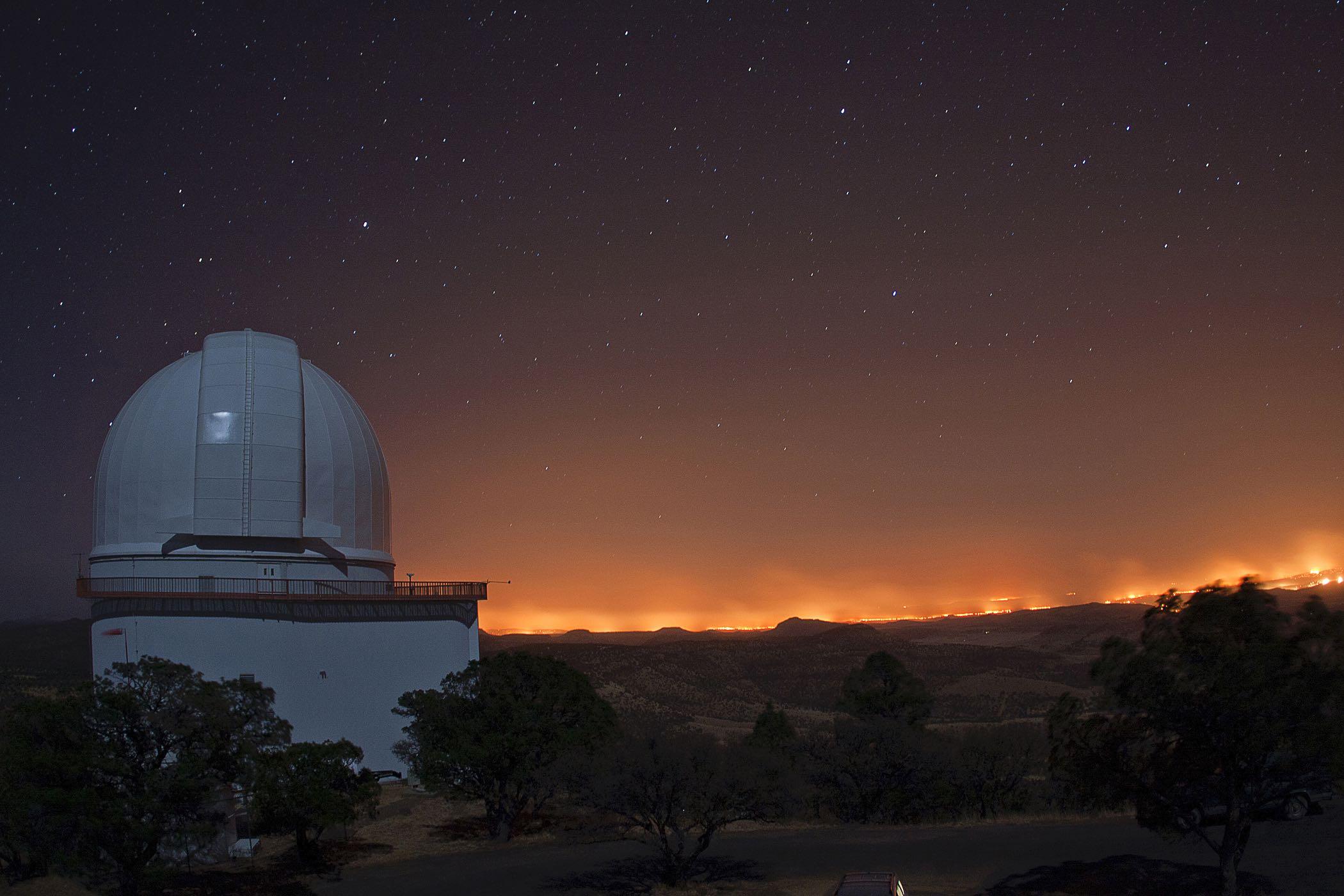 Caption: Smith Telescope McDonald Observatory, Credit: McDonald Observatory