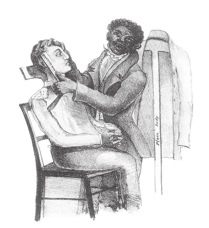 "Caption: Anthony Imbert. Wrapper illustration for ""Life in Philadelphia"" (ca. 1829-30)."