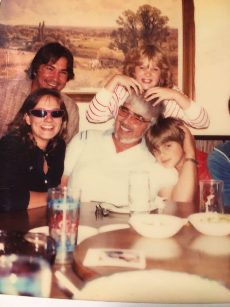 Caption: Father's Day 1982. Arne Vainio with Walt Boorsma and family, Credit: SUSAN BOORSMA