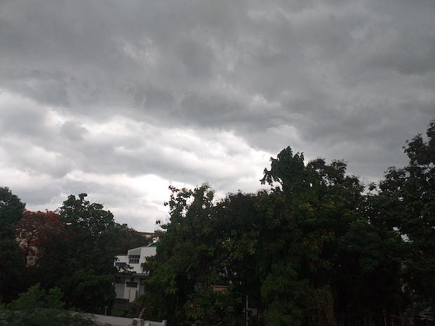 Caption: A monsoon approaches Kolkata, Credit: Sandip Roy