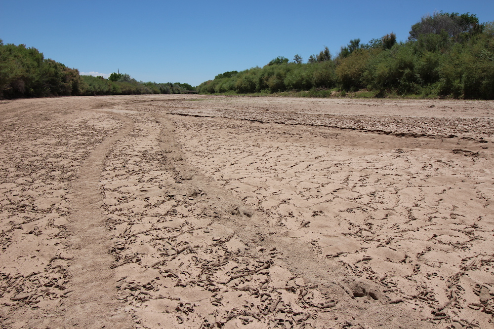 Caption: Rio Grande is now dry in the summer, Credit: Laura Paskus