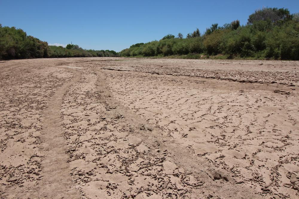 Caption: Rio Grande is now dry in summer, Credit: Laura Paskus