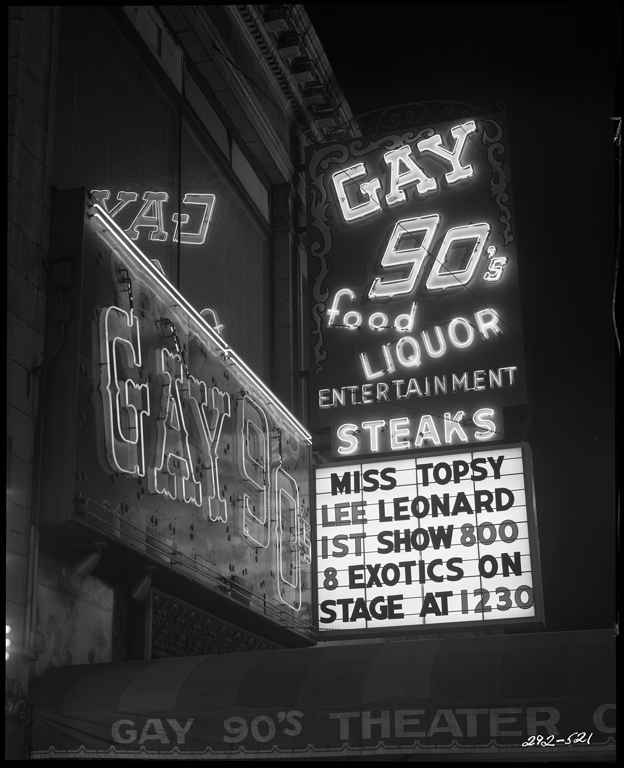 Caption: The Gay 90's in downtown Minneapolis. , Credit: Minnesota Historical Society
