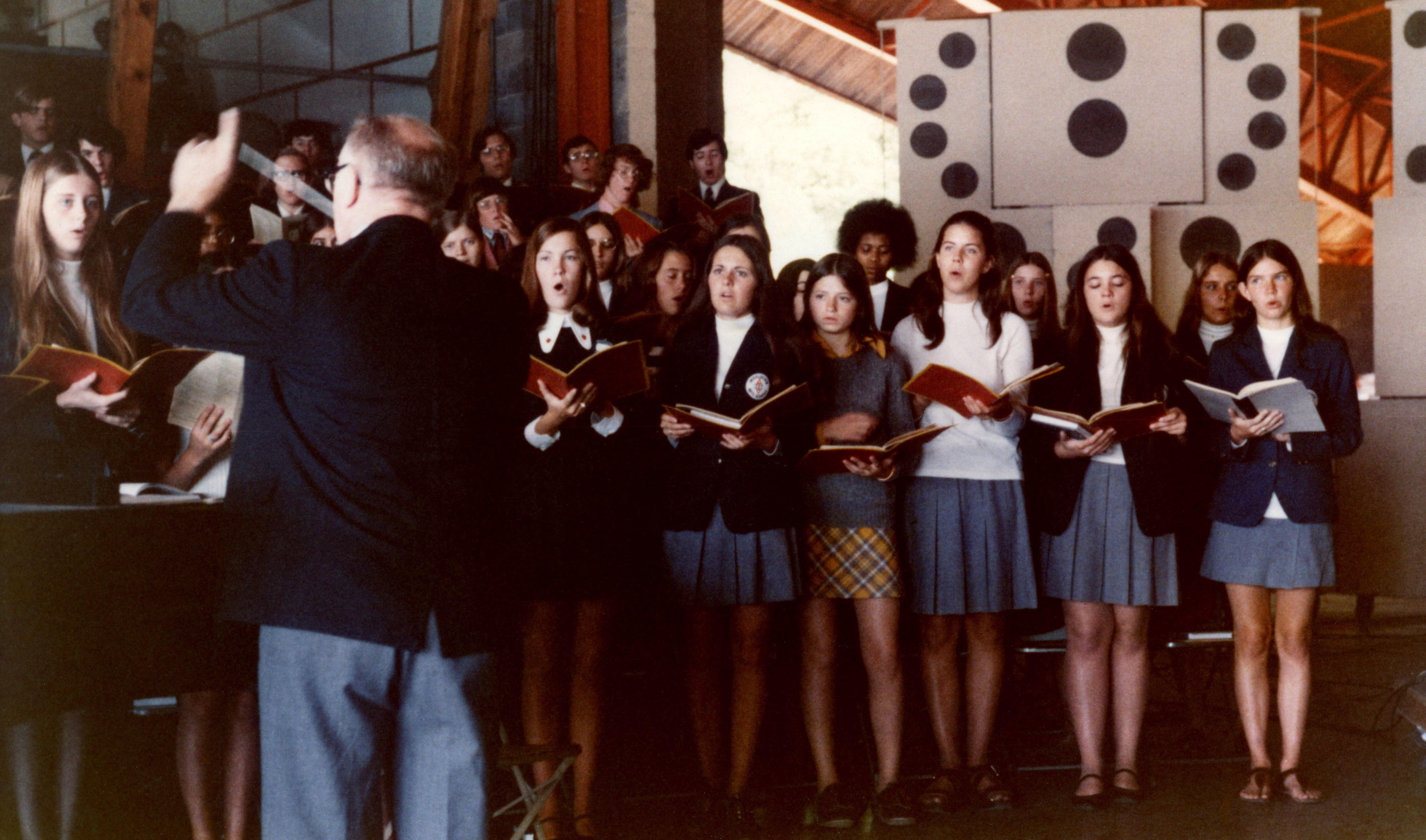 Caption:  1972-73 Interlochen Arts Academy Choir, Credit: Penny Payne