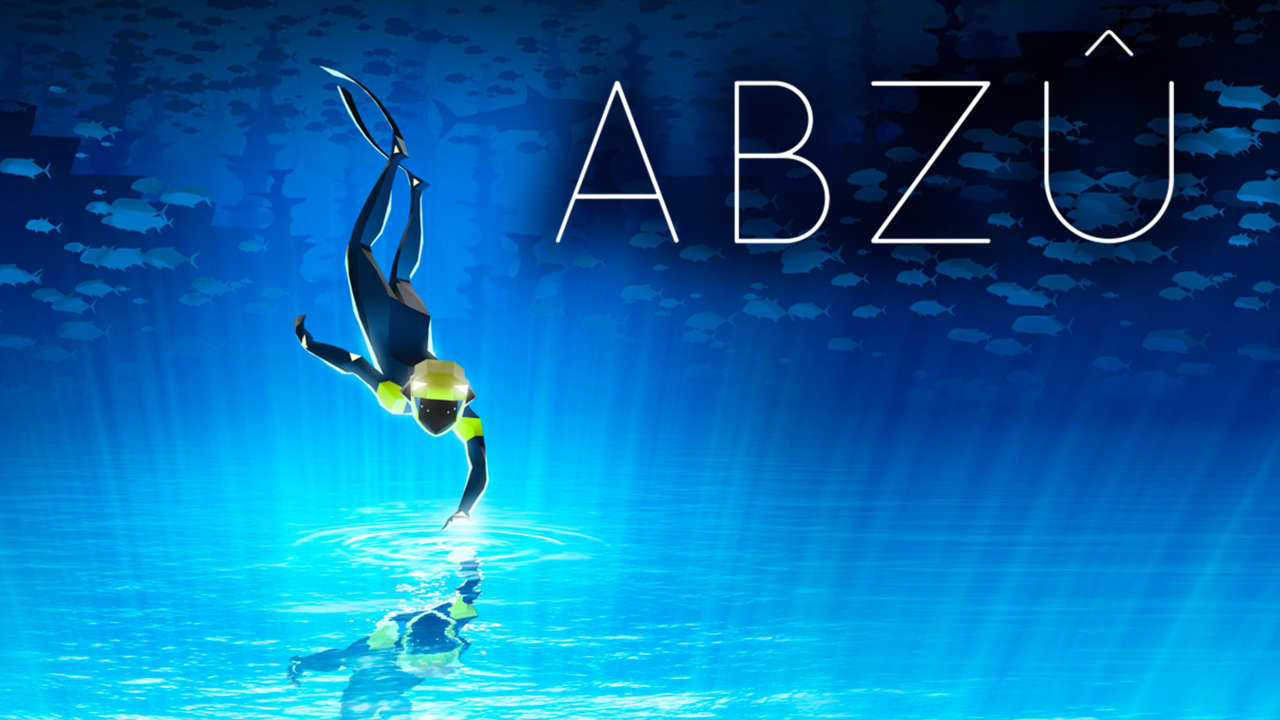 Caption:  Cover art for ABZU: a sea exploration game scored by Grammy-nominated composer Austin Wintory.