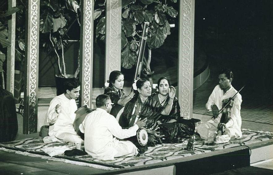 Caption: MS Subbulakshmi at the 1966 UN General Assembly
