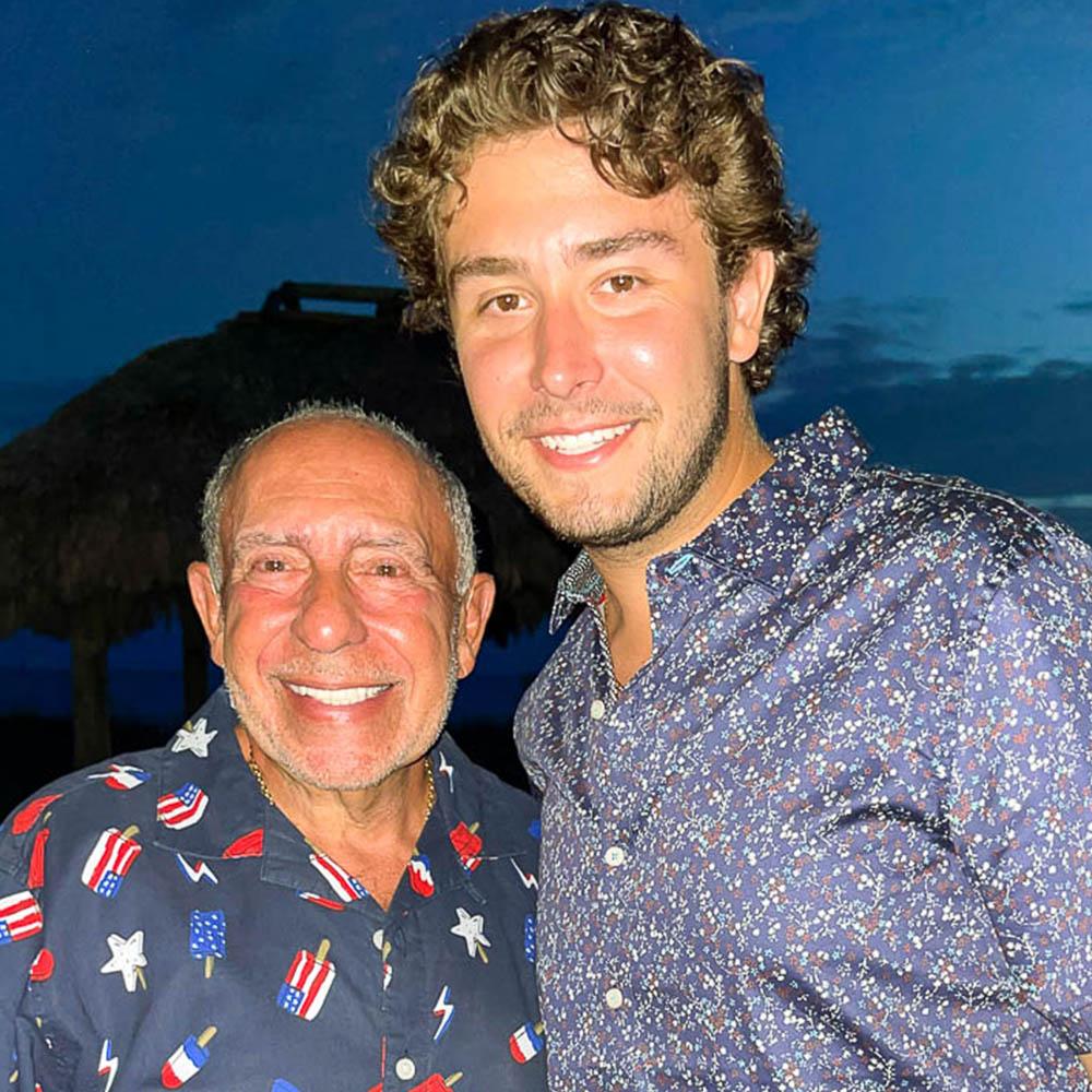 Caption: Max García and his grandfather, Mario, in early July., Credit: Mario García