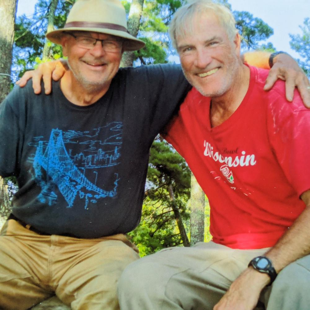 "Caption: Greg Klatkiewicz and Gary ""Zooks"" Bezucha seen on one of their regular camping trips in 2019., Credit: Greg Klatkiewicz"