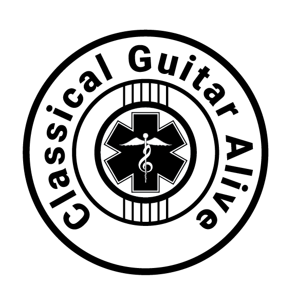 Caption: Classical Guitar Alive logo, Credit: Classical Guitar Alive