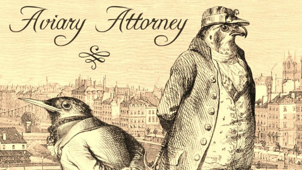 Caption: Composers Lyndon Holland and Jeremy Noghani arranged music by 19th-century composers like Charles Gounod, Hector Berlioz, and Camille Saint-Saens for the soundtrack to the 2015 game Aviary Attorney.