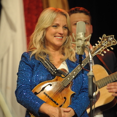Caption: Rhonda Vincent returns to the WoodSongs Stage.