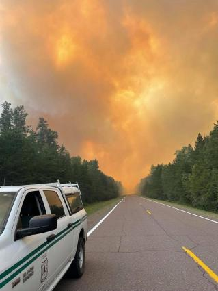 Caption: Greenwood Fire on Friday, August 20. Photo courtesy of US Forest Service