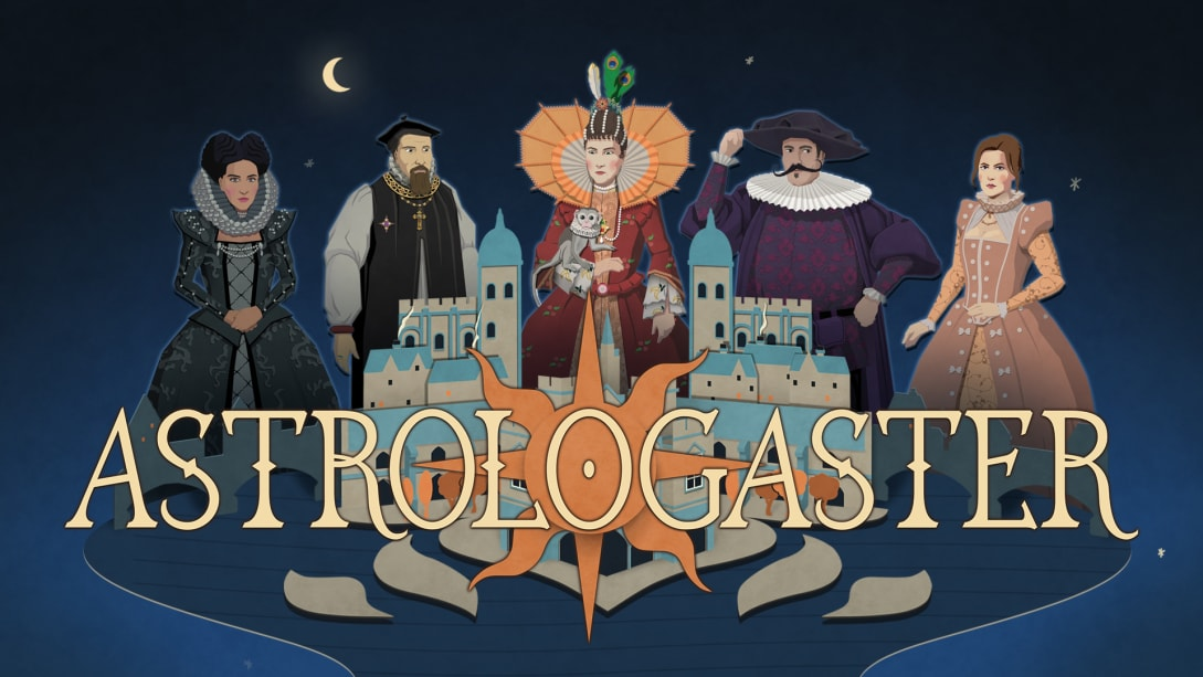 Caption: Composer Andrea Boccadoro wrote a Renaissance-style madrigal for each character in the Elizabethan comedy game Astrologaster.