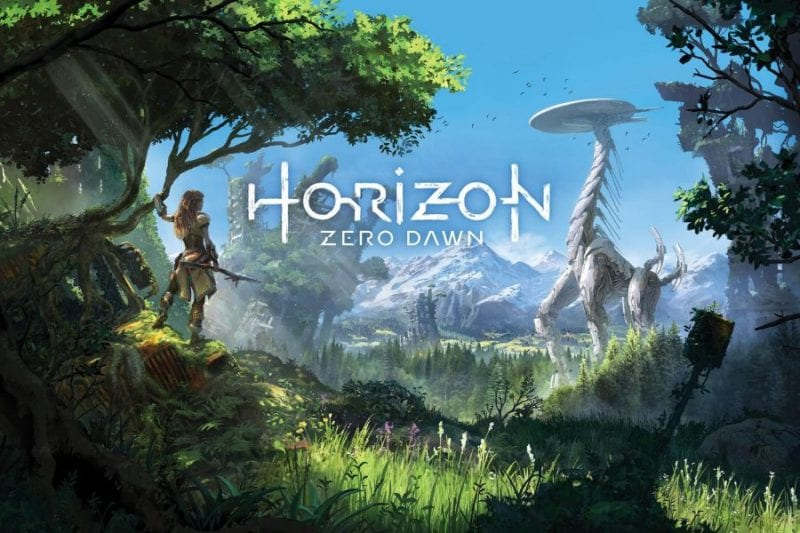 Caption: The game Horizon Zero Dawn was scored by a team of composers, including Joris de Man, duo The Flight, Niels van der Leest, and Jonathan Williams.