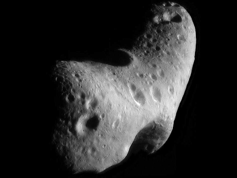 Caption: Asteroid Eros, Credit: NASA