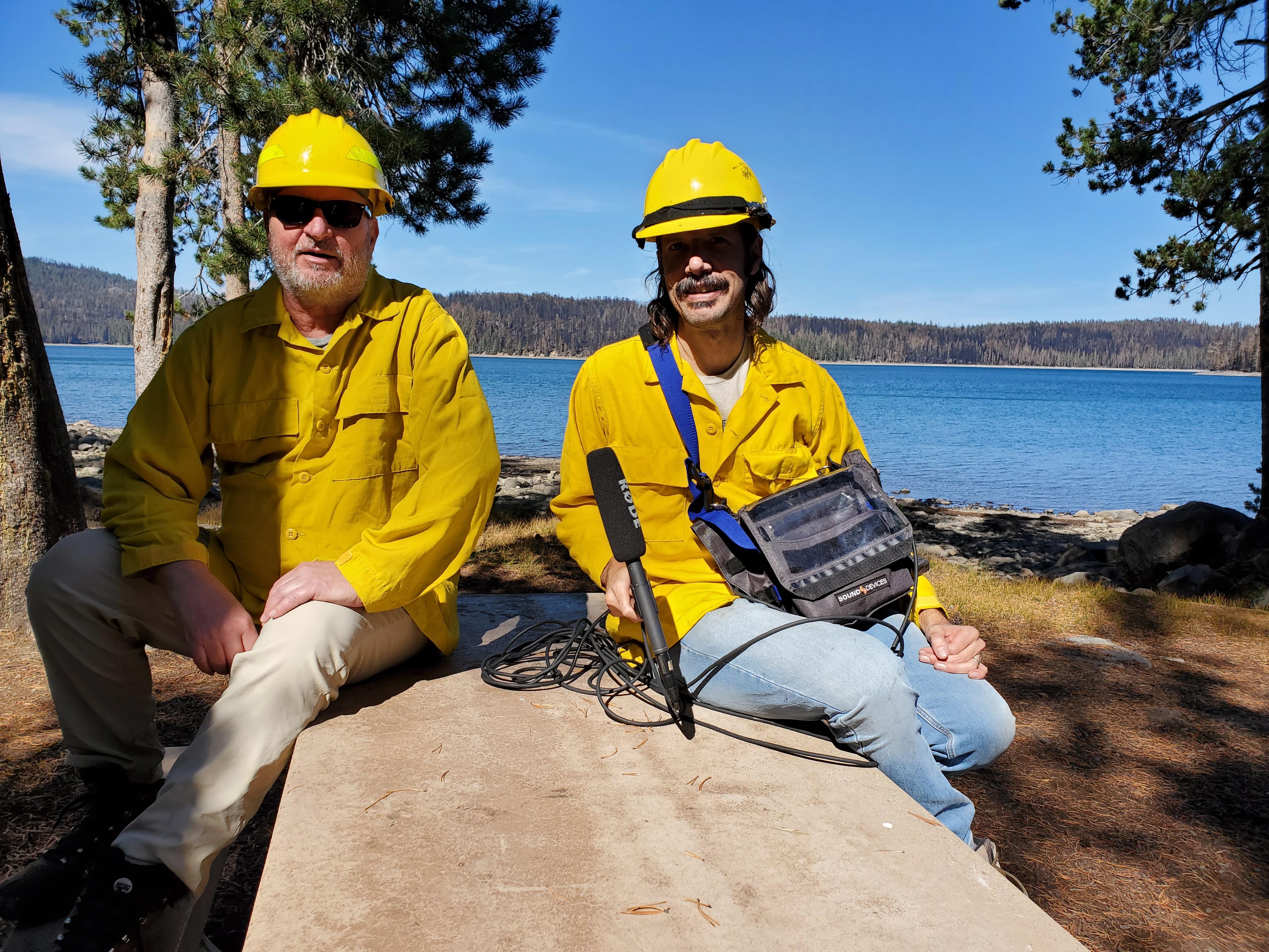 Caption: Dave and Matt at the Juniper Lake Campgroud