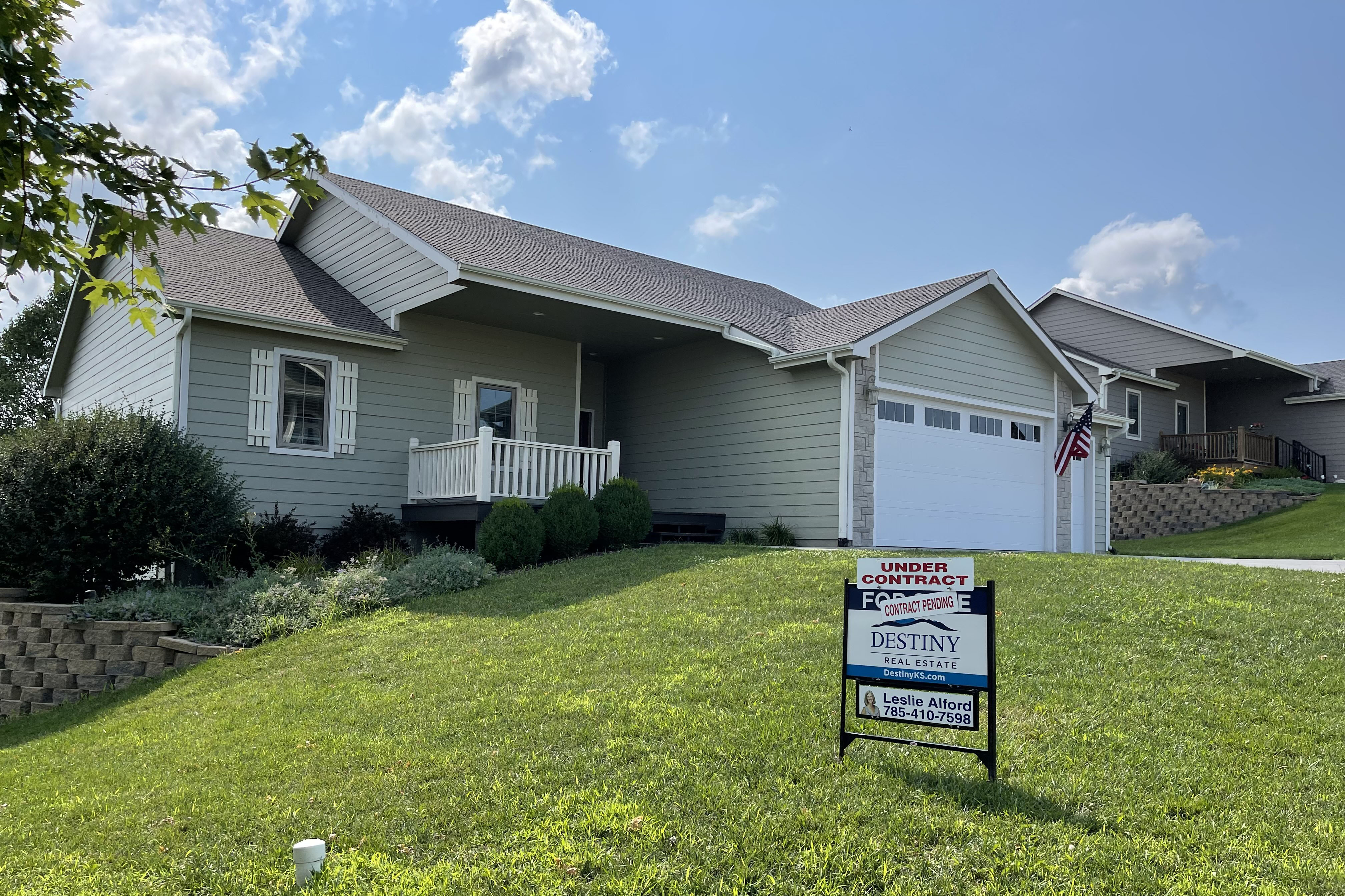 """Caption: Real estate agent Leslie Alford said the housing market near Ft. Riley, Kansas has been """"crazy"""" this year,"""" with """"a whole lot less houses for sale, a whole lot more competition for them, and higher prices."""", Credit: Courtesy Leslie Alford"""