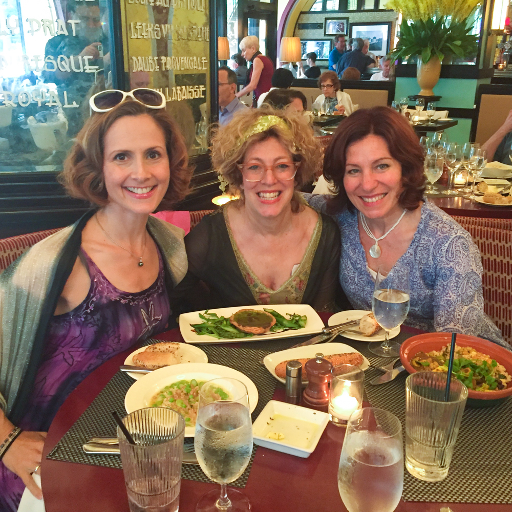 Caption: From left to right, Kelly Jeanne Grant, Jennifer Arnold, and Janet Saia in New York in 2016. Courtesy of Janet Saia.