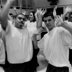 Hip Hop Night in the Boys Unit (San Francisco Juvenile Justice Center)  Credit: Joseph Rodriguez